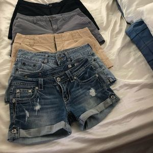 Lot of shorts 5 pair MiSS Me, old navy, gap& bke